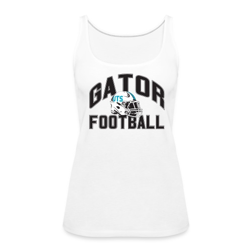 Women's UTS Gator Football Tank Top - White - Women's Premium Tank Top