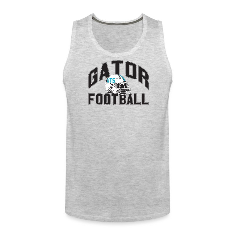 Men's UTS Gator Football Tank Top - Gray - Men's Premium Tank