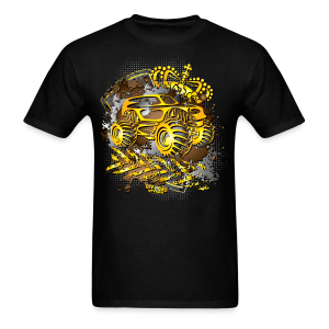 Golden Monster Truck Shirt - Men's T-Shirt