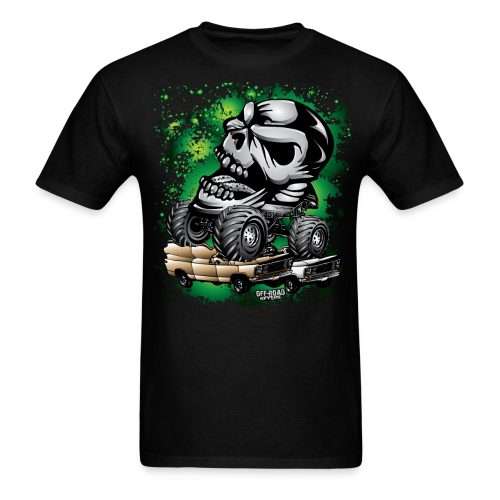 Monster Skull Truck - Men's T-Shirt