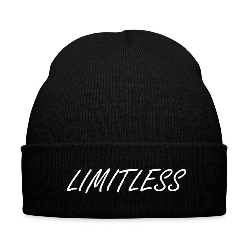 Limitless Skull Bean Hat - Knit Cap with Cuff Print