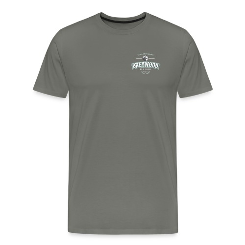 Men's Premium T-Shirt - Asphalt Greywood Manor Logo Tee