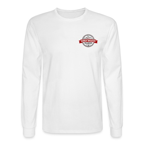 Men's Long Sleeve T-Shirt - Greywood Manor Retro Red Long Sleeved