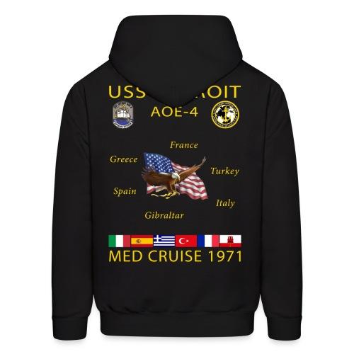 USS DETROIT AOE-4 1971 CRUISE HOODIE - Men's Hoodie