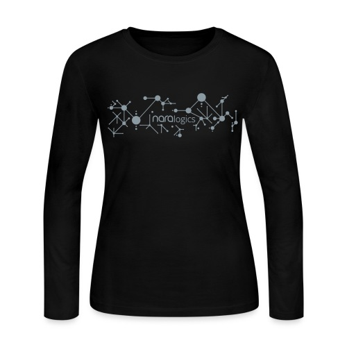 Network / no slogan (Metallic Silver) - Women's Long Sleeve Jersey T-Shirt