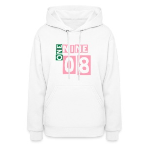 1908 Alpha Kappa Alpha - pink and green lettering women's sweatshirt - Women's Hoodie