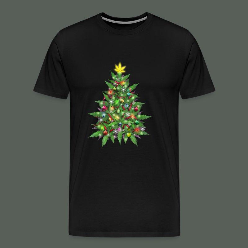 Marijuana Christmas Tree T-Shirt | Weed Tees