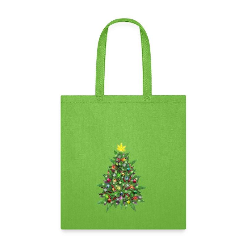 Enjoyable Marijuana Christmas Tree Tote Bag Spreadshirt Easy Diy Christmas Decorations Tissureus