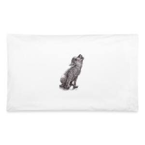Funny Howling Wolf - Pillowcase