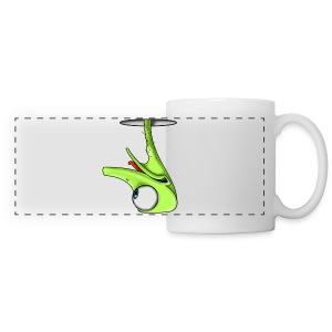 Funny Green Ostrich - Panoramic Mug