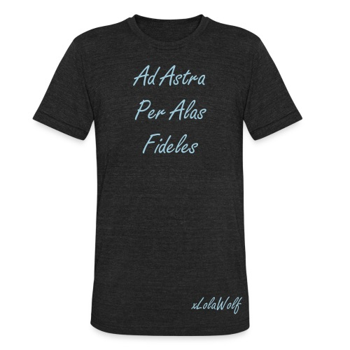 Official xLolaWolf  Ad Astra Per Alas Fideles Uni Sex Shirt Limited Edition - Unisex Tri-Blend T-Shirt