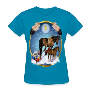 Christmas Mare and Colt - Women's T-Shirt