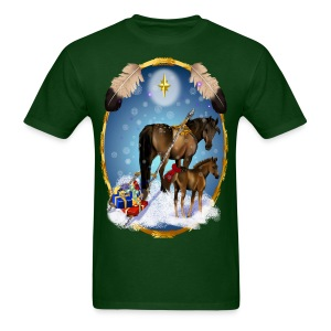 Christmas Mare and Colt - Men's T-Shirt