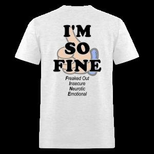 Men's Standard I'm Fine (Back) - Men's T-Shirt