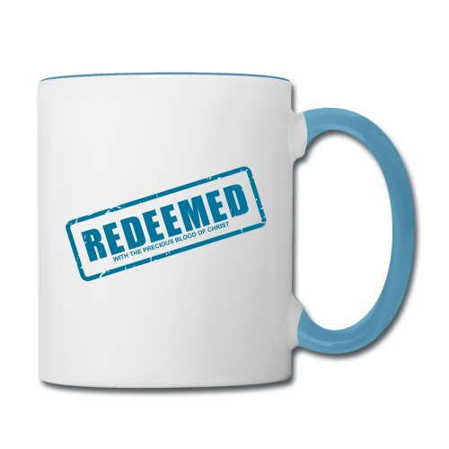 Redeemed with the precious blood of Christ - Contrast Coffee Mug