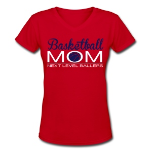 NLB basketball mom v neck - Women's V-Neck T-Shirt