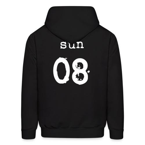 Sun (8 Logo Front) Hoodie I - Men's Hoodie