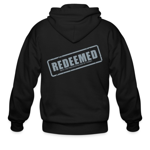 Redeemed with the precious blood of Christ - Men's Zip Hoodie