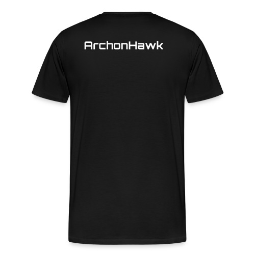 Mens Banner shirt with ArchonHawk on back - Men's Premium T-Shirt