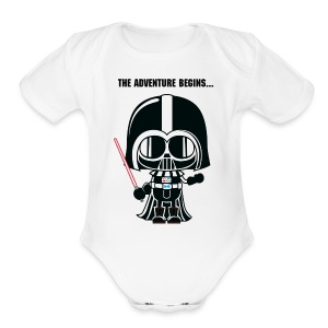 Darth Vader Pregnancy Announcement Baby Bodysuits - Short Sleeve Baby Bodysuit