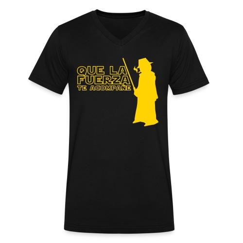 QUE LA FUERZA TE ACOMPAÑE - Men's V-Neck T-Shirt by Canvas