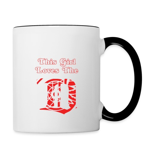 This Girl Loves the D Mug - Contrast Coffee Mug