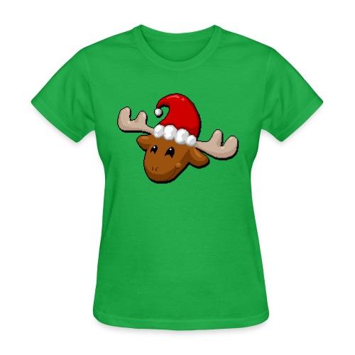 Merry Christmoose (Fem Cut) - Women's T-Shirt