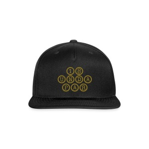 SnapBack Black-Gold - Snap-back Baseball Cap