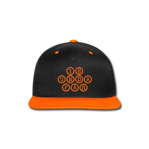 SnapBack Black/Orange - Snap-back Baseball Cap