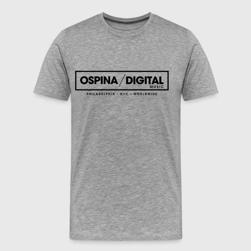 Ospina Digital Music - Official T-Shirt (Grey) - Men's Premium T-Shirt