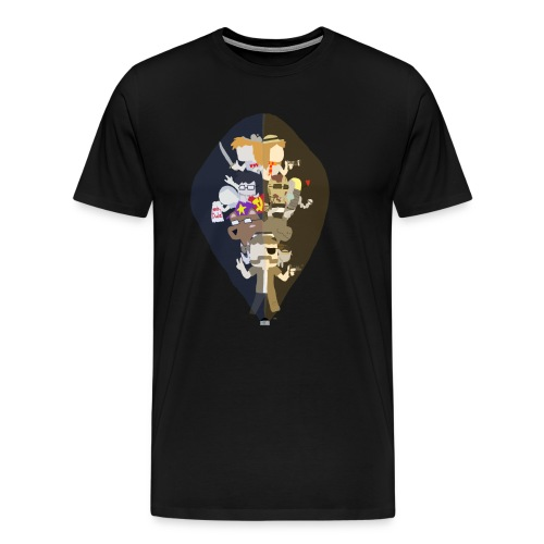 Two Worlds - Men's Premium T-Shirt