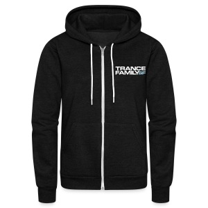 Unisex Fleece Zip Hoodie by American Apparel (white font) - Unisex Fleece Zip Hoodie by American Apparel