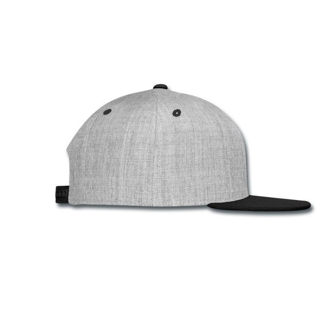 Snap-back Baseball Cap (black font)