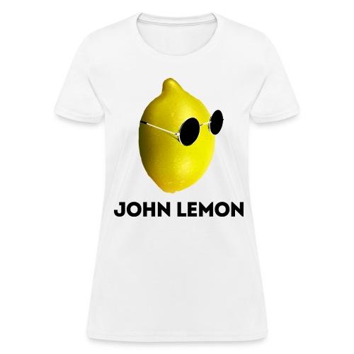 Women's T-Shirt 'JOHN LEMON' White - Women's T-Shirt