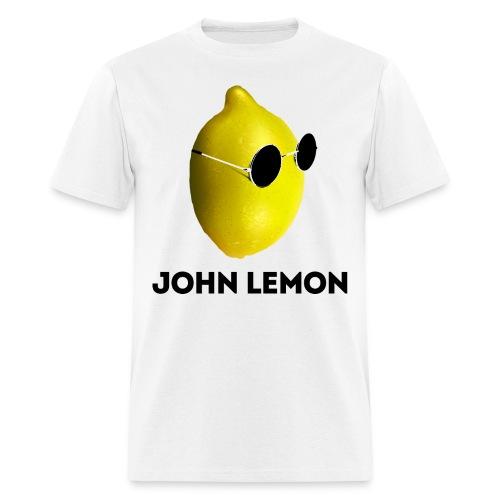 Men's T-Shirt 'JOHN LEMON' White - Men's T-Shirt