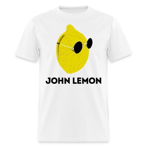 Men's T-Shirt 'JOHN LEMON' White Cartoon Style - Men's T-Shirt