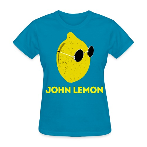 Women's T-Shirt 'JOHN LEMON' Cartoon Style - Women's T-Shirt