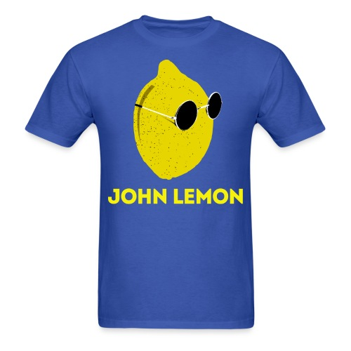Men's T-Shirt 'JOHN LEMON' Cartoon Style - Men's T-Shirt