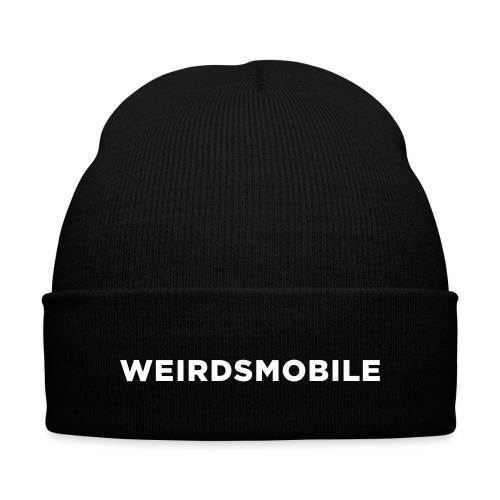 Weirdsmobile Winter Knit Cap Hat - Knit Cap with Cuff Print