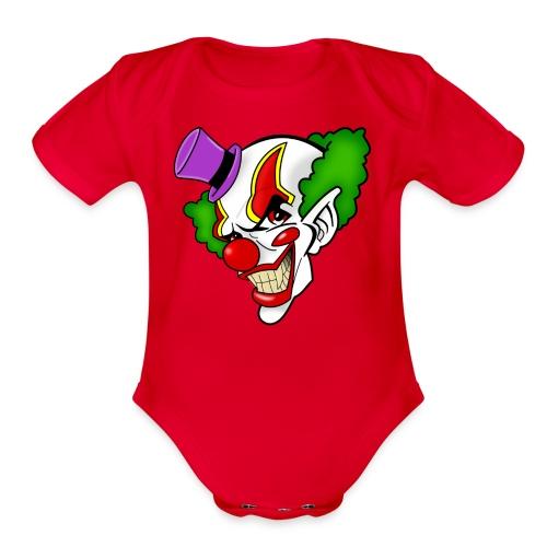 Clown  - Organic Short Sleeve Baby Bodysuit