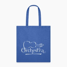 Orchestra White Violin Outline Bags & backpacks