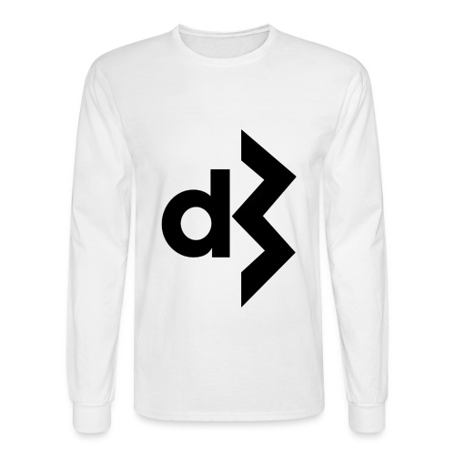 Black DB Logo Longsleeve - Men's Long Sleeve T-Shirt