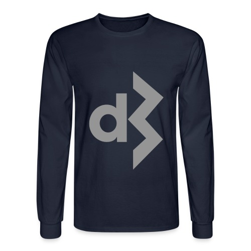 Grey DB Logo Longsleeve - Men's Long Sleeve T-Shirt