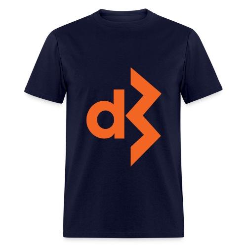 Orange DB Logo Tee - Men's T-Shirt