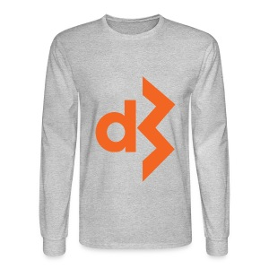 Orange DB Logo Longsleeve - Men's Long Sleeve T-Shirt