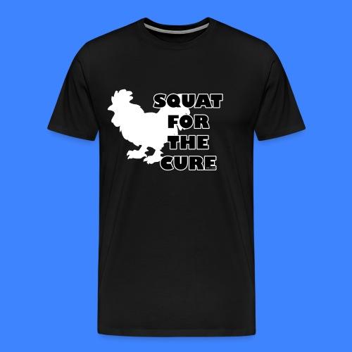 Squat For The Cure - Black (male) - Men's Premium T-Shirt