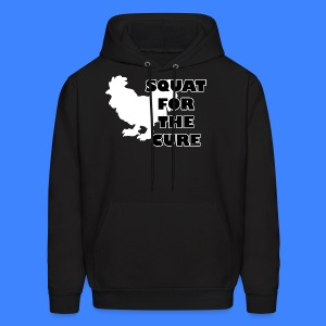 Squat For The Cure - Black (male) - Men's Hoodie