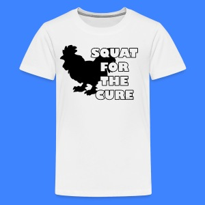 Squat For The Cure (kids) - Kids' Premium T-Shirt