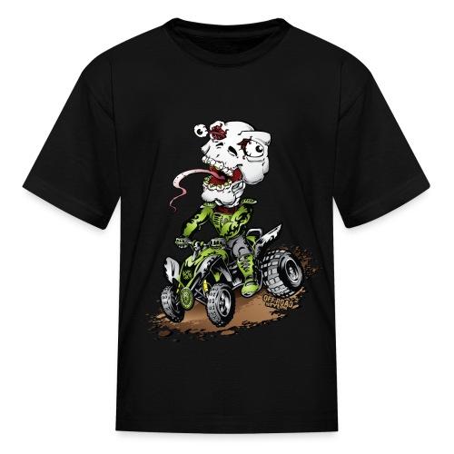 ATV Crazy Skully Kawasaki - Kids' T-Shirt