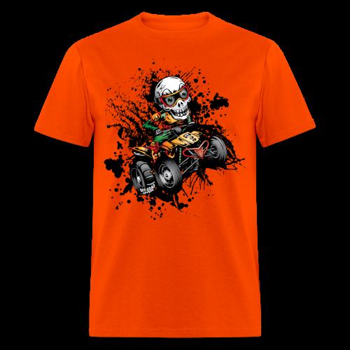 ATV Skully Splatter Sml - Men's T-Shirt